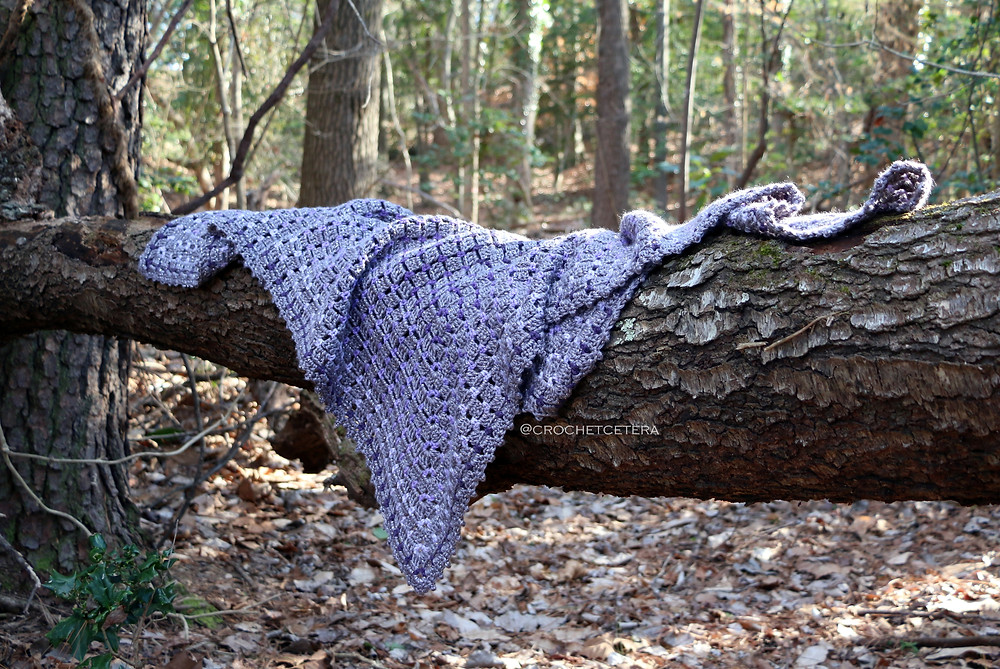 Twilight Fairy Gemma Blanket, hand crocheted by Connie Lee Lynch of CrochEt Cetera by Connie Lee