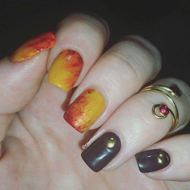 Autumn Colors Nail Art for #clairestelle8oct