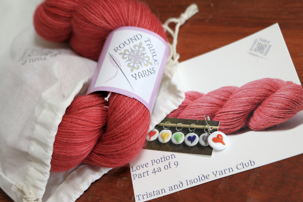 Round Table Yarns Tristan and Isolde Yarn Club Love Potion