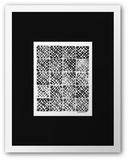 Crochet Impressions: GRANNY Framed Print from Redbubble