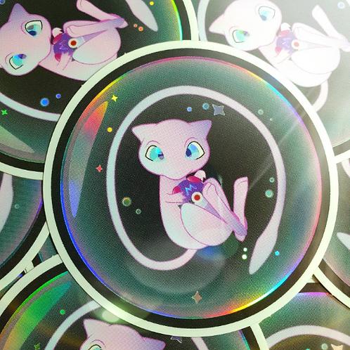 Mew Holographic Sticker 3 Pack   Pokemon Stickers
