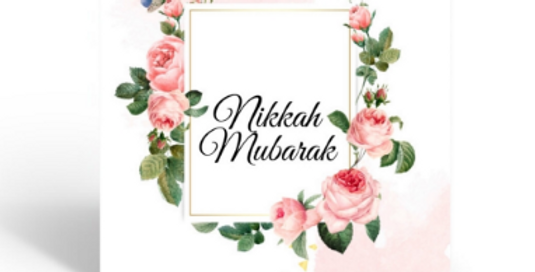 Nikkah Mubarak Cards