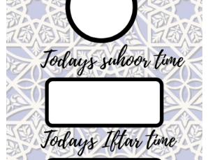 Ramadan Time Sheet