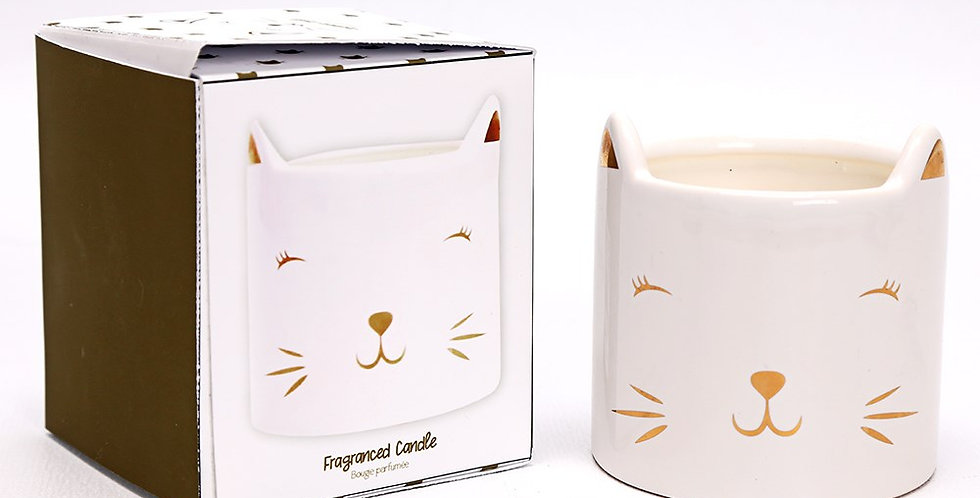 Cat Face Candle