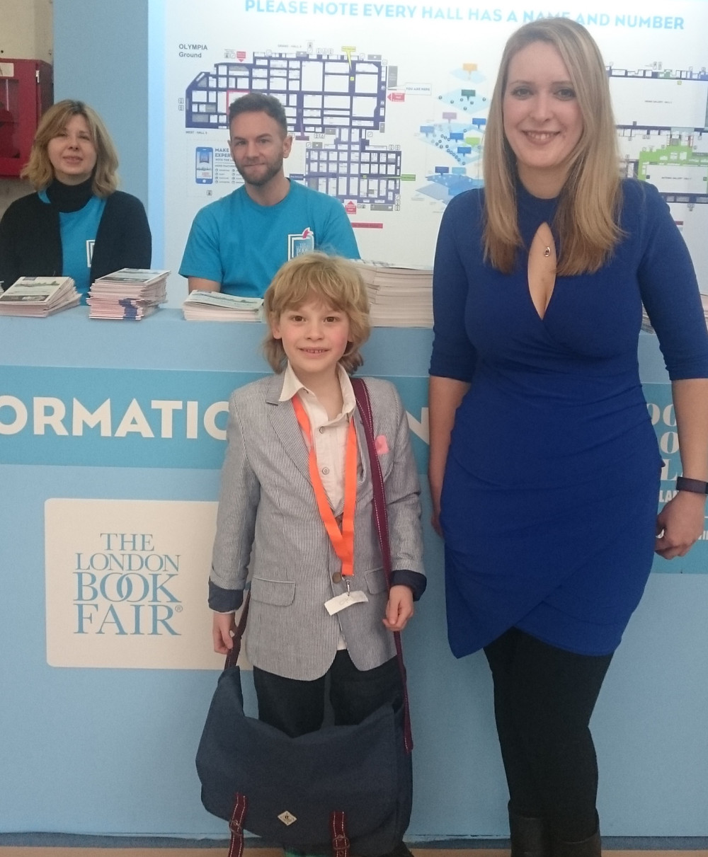 Danielle and Nathan at the London Book Fair