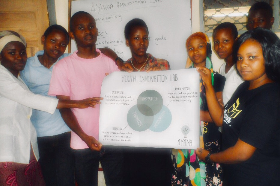 Youth Innovation Lab students receive educational posters