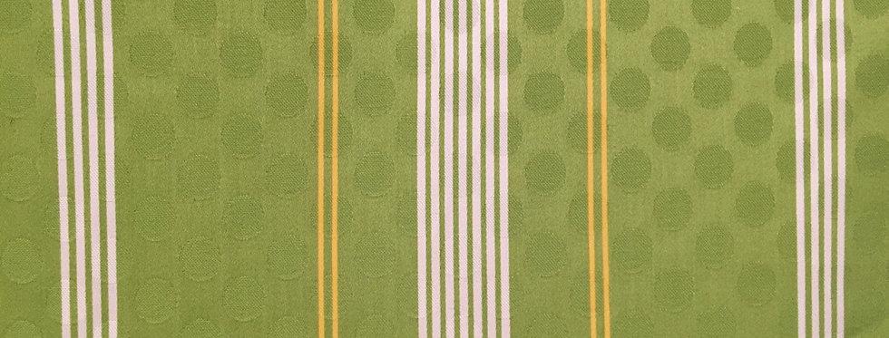 Lime Green Yellow White Stripe - Dot