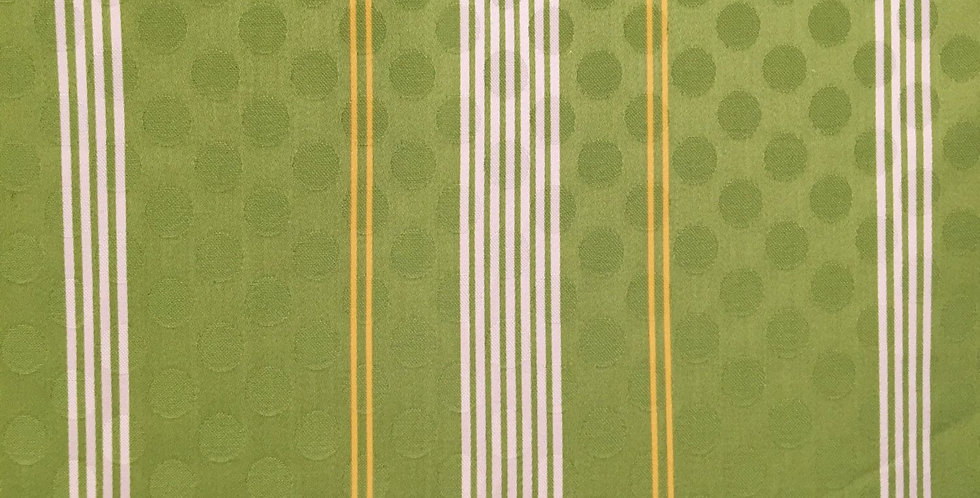 Lime Green Yellow White Stripe - Dot