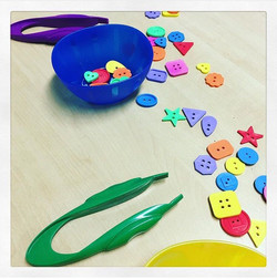 Tweezers and buttons