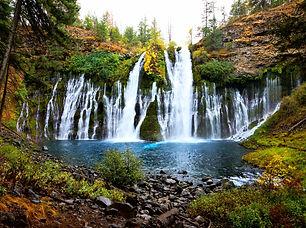 Picturesque McArthur-Burney Falls in nor