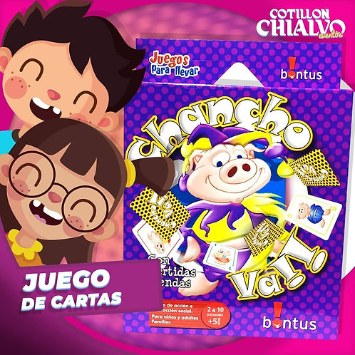 """Juego de Cartas """"Chancho Va!"""""""