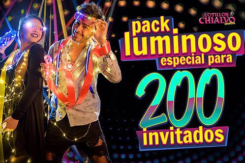 Pack Cotillón Luminoso para 200 Invitados