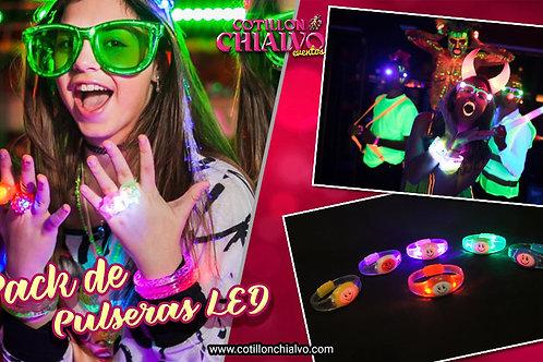 Pack de Pulseras LED Audio rítmicas