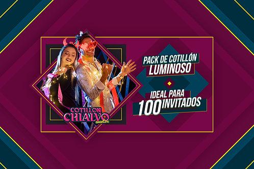 PACK LUMINOSO 100 INVITADOS - COTILLON CHIALVO