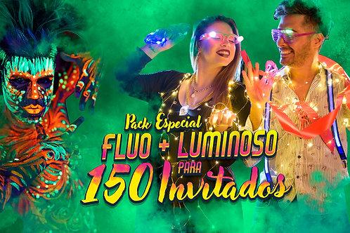 Pack de Cotillón Luminoso + Fluo Ideal para 150 Invitados