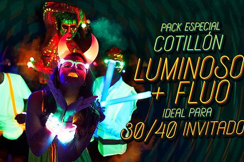 Pack de cotillón Luminoso + Fluo para 30/40 Invitados