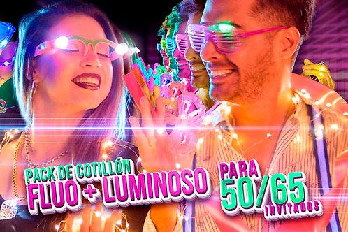 Pack de Cotillón Luminoso + Fluo Ideal para 50 o 65 Invitados