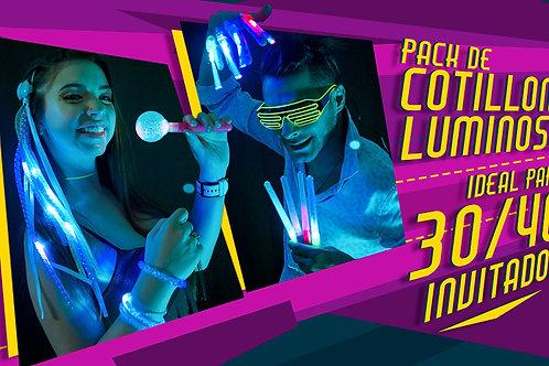 Pack de Cotillón luminoso ideal para 30 /40  Invitados