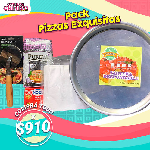 Pack Pizzas Exquisitas