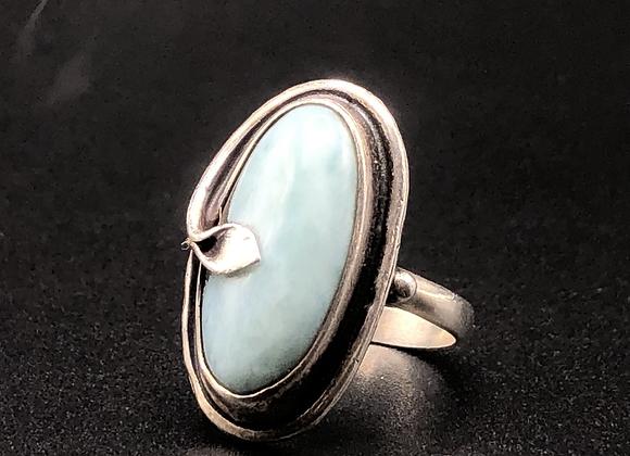 Vintage Sterling Silver & Larimer Ring