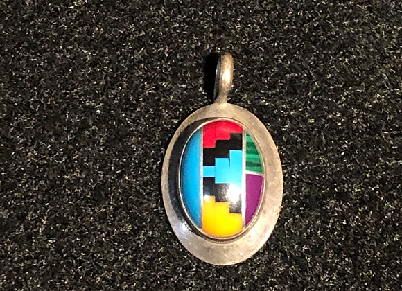Vintage Sterling Silver Pendant New Mexico