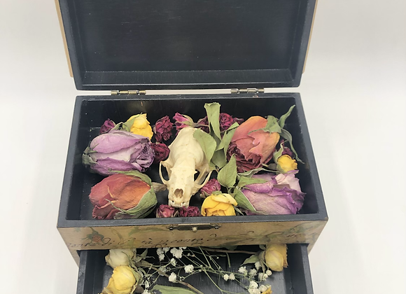 Flower Oddity Box Mink Skull