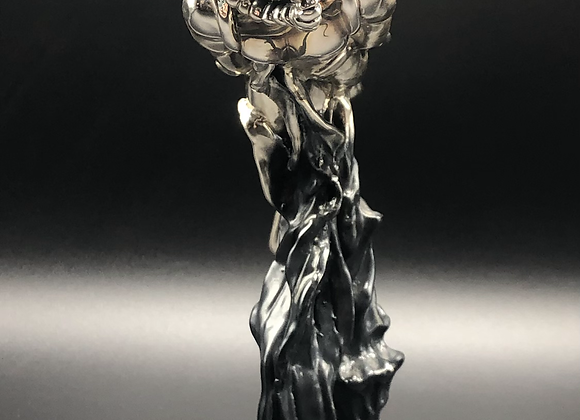 Vintage Silver Plated Scuba Diver Statue