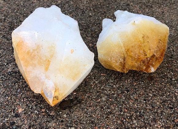 Large Citrine Crystal Points 13.5 oz.