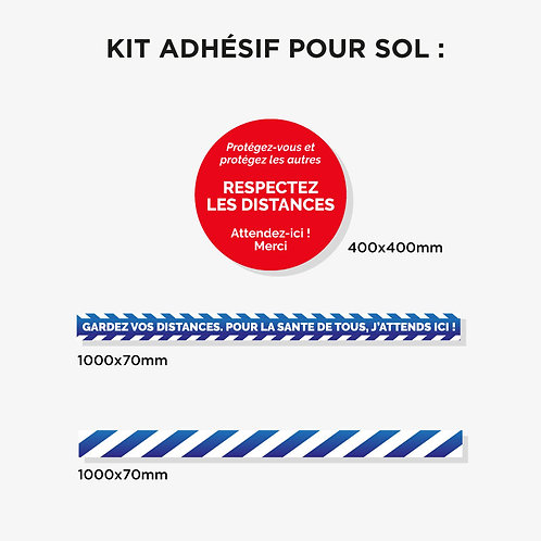 Kit 10 adhésifs Sol plastification anti-dérapante