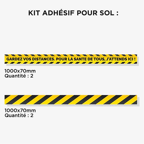 Kit 4 adhésifs pour Sol
