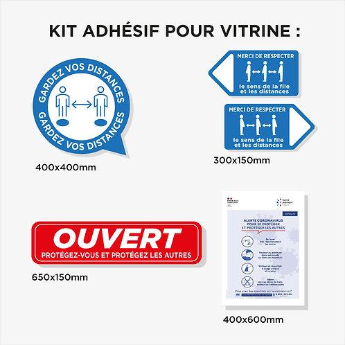 Kit adhésif Vitrine plastification anti-UV (10 Adhésifs)