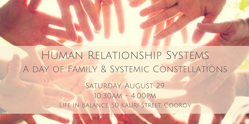 Human Relationship Systems - A Family & Systems Constellation Workshop
