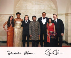 First State Dinner with President Obama and First Lady Michelle Obama alongside A.R. Rahman