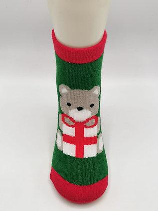 Calcetines Navidad Osito Regalo