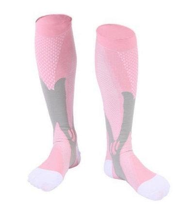 Calcetines altos decompresión Running - Trail rosas