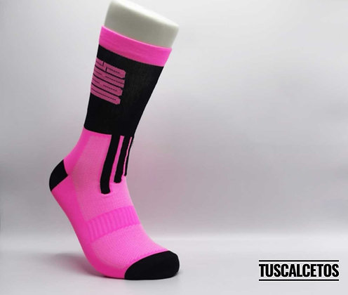 Calcetines Running SHAO Negro y Rosa