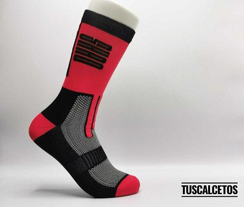 Calcetines Running SHAO Rojo Negro