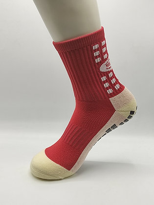 calcetin antideslizante rojo
