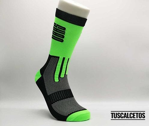 Calcetines Running SHAO Verde Negro