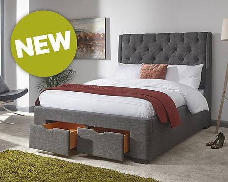 upholstered Drawer Bed