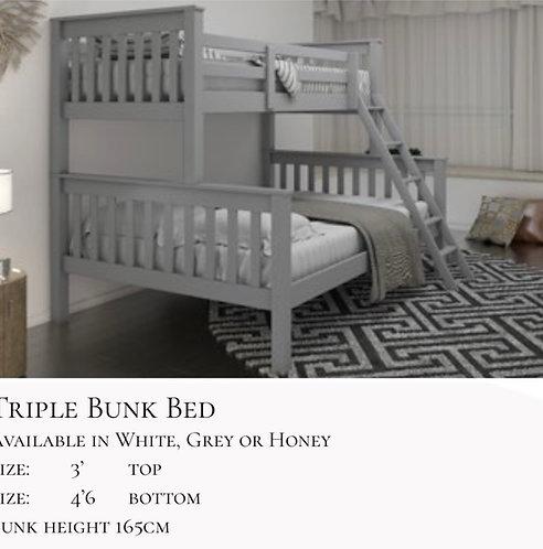 Triple bunk frame