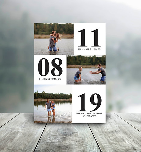 Shades of Love - Save the Date Card