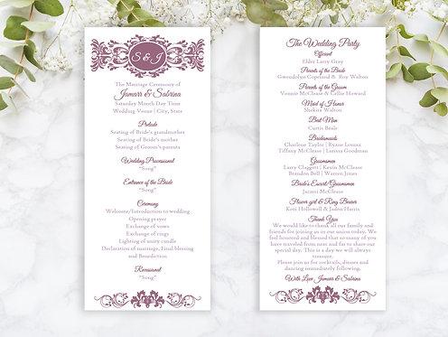 Lace Floral Wedding Programs