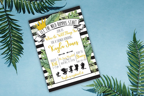 Where the Wild Things Are (inspired) - Baby Shower Invitations