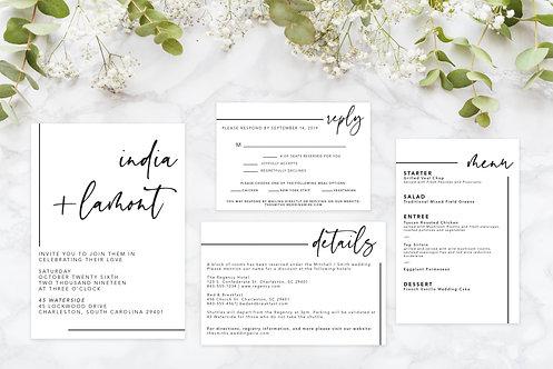 Minimalist-Wedding Invitation Suite