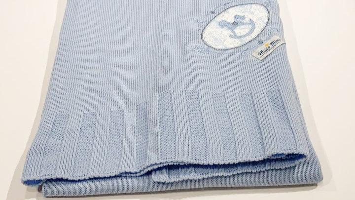 Manta tricot c bordado