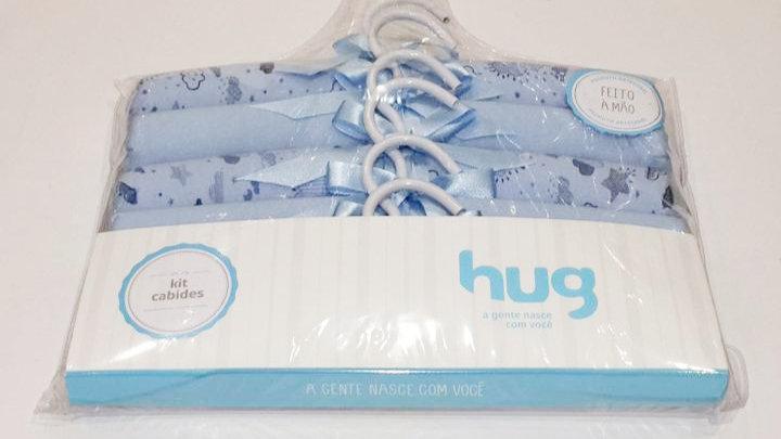 Kit c 6 cabides nevoa azul Hug