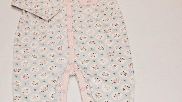 Macacão algodão estampado e bordado gatinhas no bolso Tilly Baby