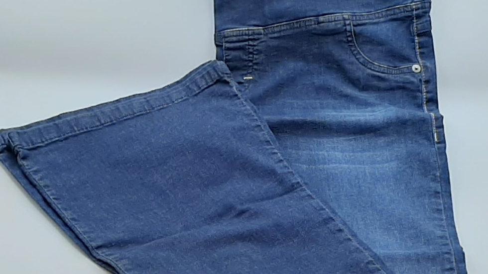 Calça flare jeans para gestante Emma Fiorezi