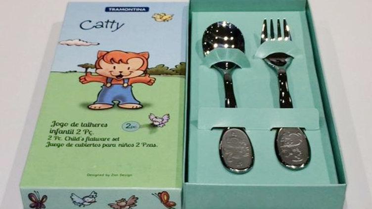 Jogo de talheres aço inox 2 pçs Cathy Tramontina